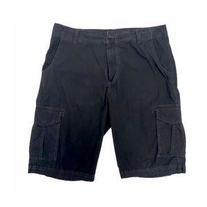 Calvin Klein Men's Cargo Shorts, Black Size 36